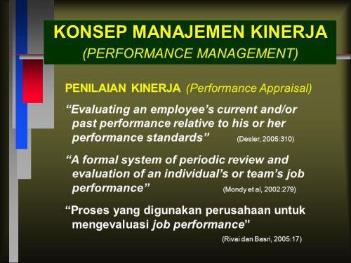 konsep manajemen kinerja
